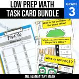 3rd Grade Math Task Cards BUNDLE   Varied Question Types
