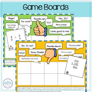 Third Grade Math Games ~ Thumbs Up or Thumbs Down?