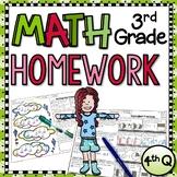 Third Grade Math Homework - 4th Quarter|Distance Learning