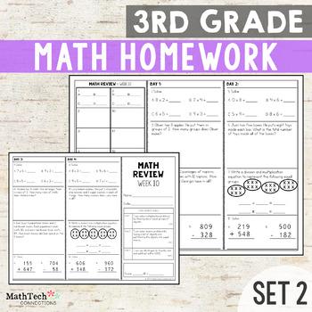 Third Grade Math Homework - Set 2