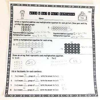 Third Grade Math Homework Freebie