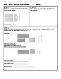 Third Grade Math Homework Packets: Florida Standards (MAFS) Week 1