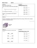 Third Grade Math Homework Packets Florida Standards (MAFS) Week 2