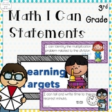 Third Grade Math I can Statements