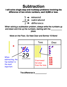 Third Grade Math Interactive Notebook