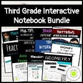 Third Grade Math Interactive Notebook Bundle
