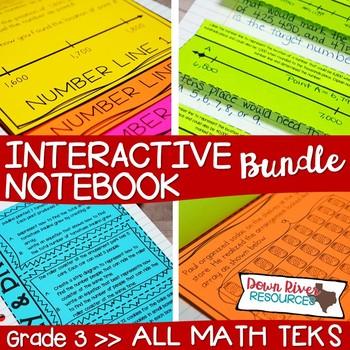 Third Grade Math Interactive Notebook Bundle- All TEKS Standards