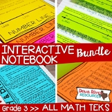 Third Grade Math Interactive Notebook Bundle- All TEKS Standards