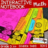 Third Grade Math Interactive Notebook: Divider Tabs for Or