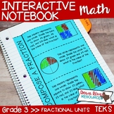 Third Grade Math Interactive Notebook: Fractional Units -