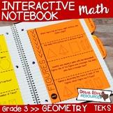 Third Grade Math Interactive Notebook: Geometry-Attributes of 2-D Figures (TEKS)