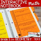 Third Grade Math Interactive Notebook: Geometry-Attributes