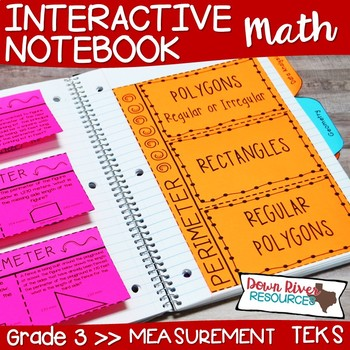 Third Grade Math Interactive Notebook: Measurement- Customary and Metric (TEKS)