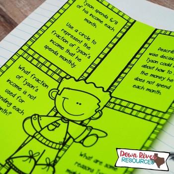 Third Grade Math Interactive Notebook: Personal Financial Literacy (TEKS)