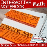 Third Grade Math Interactive Notebook: Personal Financial