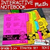 Third Grade Math Interactive Notebook: Starter Set + Divider Tabs Bundle (TEKS)