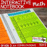 Third Grade Math Interactive Notebook: Whole Numbers Compu