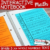 Third Grade Math Interactive Notebook: Whole Numbers - Pla