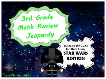 Third Grade Math Jeopardy PowerPoint ~ CCSS ~ Star Wars Th