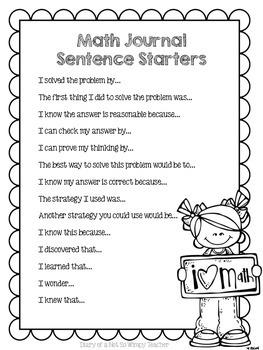 Third Grade Math Journal: 100 Word Problem Strips
