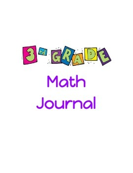 Third Grade Math Journal