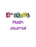 Third Grade Math Journal