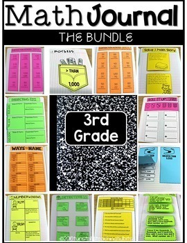 Third Grade Math Journal Bundle Volumes 1-9