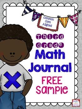 Third Grade Math Journal FREEBIE Sample