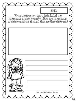 Third Grade Math Journal FREEBIE Sample