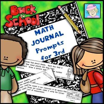 Back to School Math Journal Prompts for Third Grade