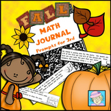 Math Journal Prompts for 3rd Grade | Fall Math Journal Prompts 3rd