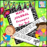 Spring Math Journal Prompts for 3rd Grade   3rd Grade Math Journal Prompts