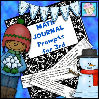 Third Grade Math Journal Prompts for Winter (Common Core Based)