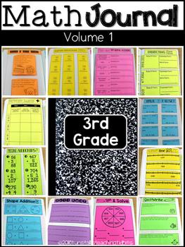 Third Grade Math Journal Volume 1 Place Value