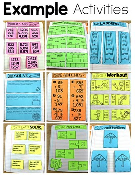 Third Grade Math Journal Volume 3 Ordering, Mix of Addition and Subtraction