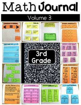 Third Grade Math Journal Volume 3 Ordering, Mix of Additio