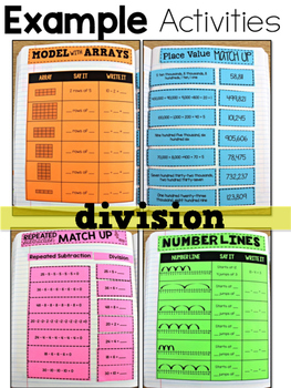 Third Grade Math Journal Volume 5 Division