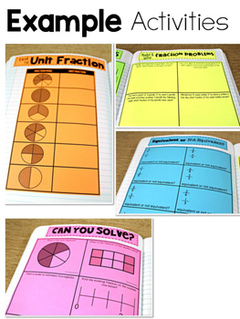 Third Grade Math Journal Volume 6 Fractions