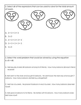 Third Grade Math MAFS.3.OA.1.1 Multiplication Quizzes