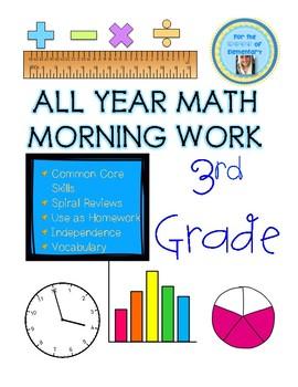 Third Grade Math Morning Work