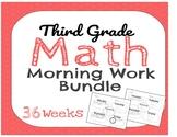 Full Year of Third Grade Math Morning Work
