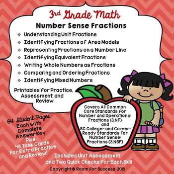 Third Grade Math Number Sense Fractions