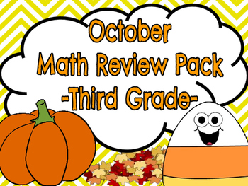 Third Grade Math Packet (October)