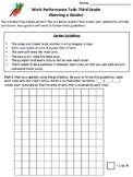 Third Grade Math Performance Tasks