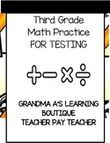 Third Grade Math Practice For Testing