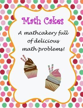 Third Grade Math Problems: Math Cakes
