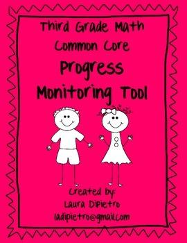 Third Grade Math Progress Monitoring Tool