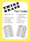Third Grade Math Puzzles - Math Games