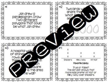 Third Grade Math Quiz-Quiz-Trade (Task Cards)