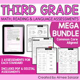 Third Grade Math, Reading, & Language Assessments MEGA Bundle